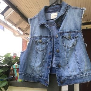 Torrid 3x Cropped jean jacket vest